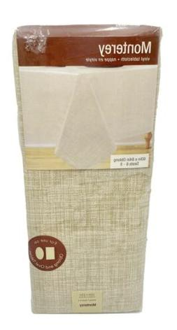 Monterey Vinyl Tablecloth 60 x 84 Oblong in Natural