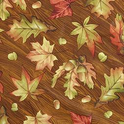 Vinyl Tablecloth 60x84 Harvest Traditional Leaves Theme