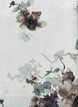 Calvin Klein Watercolor Blooms Tablecloth, Charcoal, 60-by-1