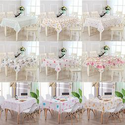 Waterproof Oil Proof Table Cloth Cover For Home Dining Kitch