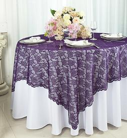 "Wedding Linens Inc. 54"" Square Lace Table Overlays Toppers T"