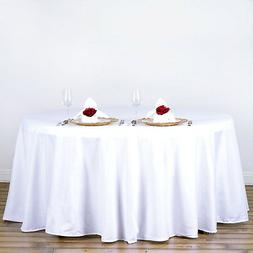 WHITE 120 Inch ROUND TABLECLOTH Wedding Decorations Party Ta