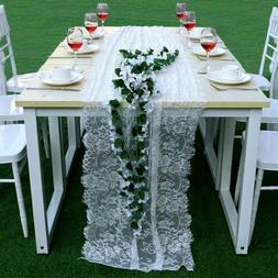 White Lace Table Runner Tablecloth Home Wedding Party Banque
