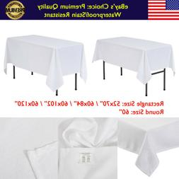 White Rectangle TABLECLOTHS Polyester Wedding Party Supply L
