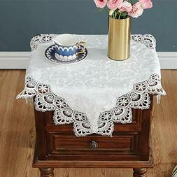 White Small Square lace tablecloths Cover for Wedding Party