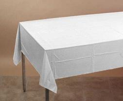 "White Tissue/Poly Tablecover 54"" x 108"" Solid 6ct"