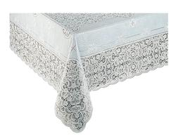 Early American designs, Vinyl Lace Tablecloth. Elegant, easy