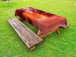 Wild America Outdoor Picnic Tablecloth in 3 Sizes Washable W