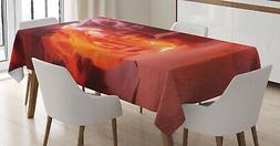 Wild America Tablecloth Ambesonne 3 Sizes Rectangular Table