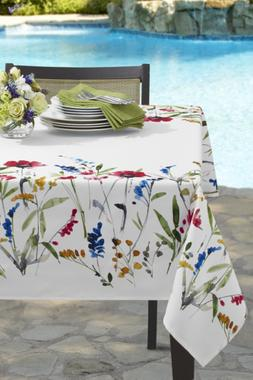 wild flower indoor spillproof tablecloth