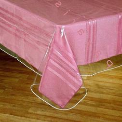 Window Clear Vinyl Tablecloth Protector With Sewn Edges Asso