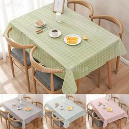 Wipe Clean Tablecloth Waterproof Table Cover Protector For K