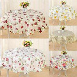 Wipe Vinyl PVC Floral Tablecloth Dining Kitchen Table Cover