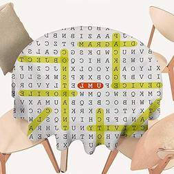cobeDecor Word Search Puzzle Wrinkle Free Tablecloths Unifie
