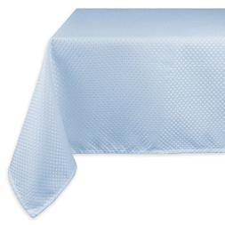 "DII Wrinkle Resistant Wide Tablecloth, 70 x 104"", Light Blue"