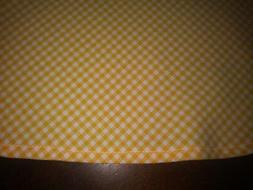 Yellow & White Check Tablecloth Size 57X74 Oblong or Oval NE