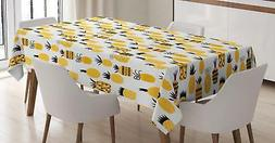 Yellow Tablecloth by Ambesonne Rectangular Table Cover Home