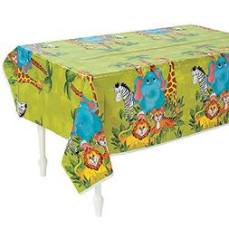 zoo animal party plastic tablecloth